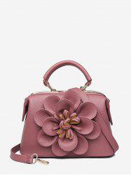 Vintage Flower Design PU Tote Bag -