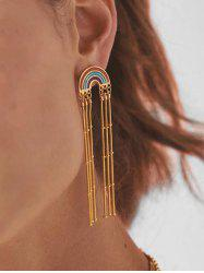 Bohemian Tassel Rainbow Dangle Earrings -