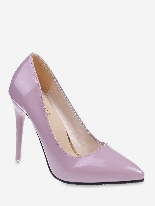 Chic Plain Patent Leather High Heel Pumps