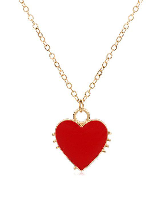 Outfits Link Chain Heart Shape Pendant Necklace