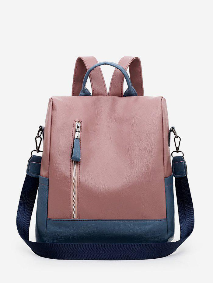 Shop PU Leather Square Student Backpack
