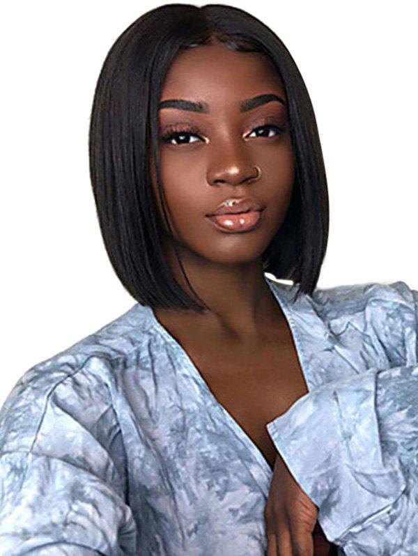Store Center Parting Straight Short Bob Synthetic Lace Wig