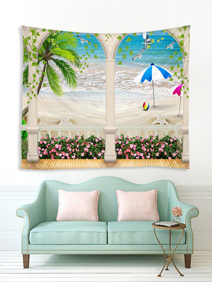 Unique Seaside Corridor Print Tapestry Wall Hanging Art Decoration
