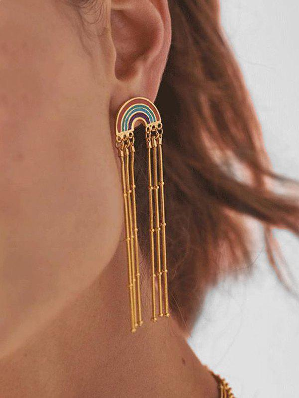 Affordable Bohemian Tassel Rainbow Dangle Earrings