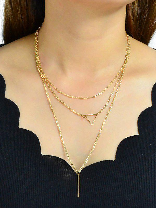 Fashion Geometric Design Alloy Multilayered Necklace