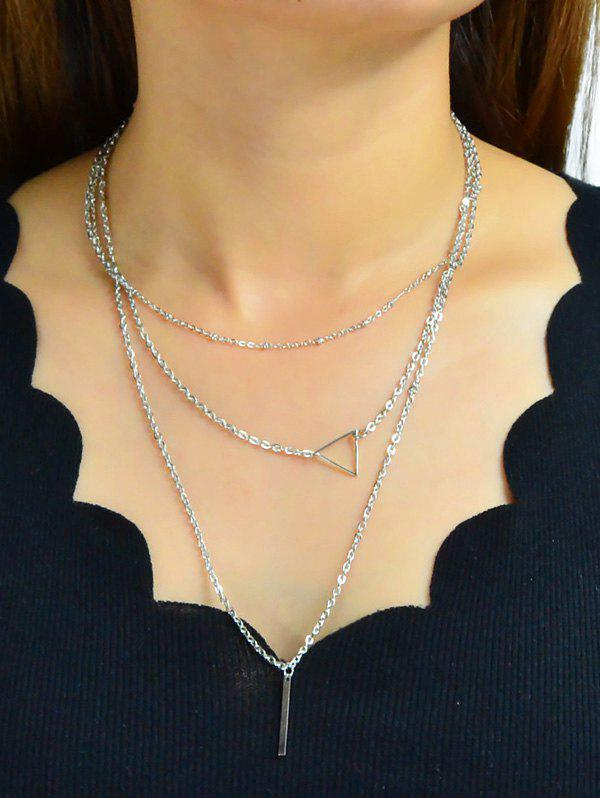 Cheap Geometric Design Alloy Multilayered Necklace