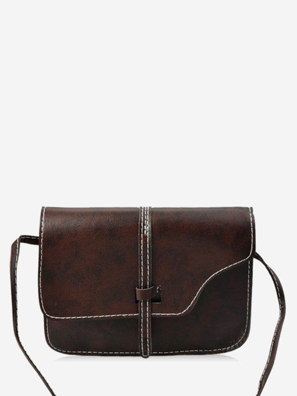 Latest Simple Strap Accent PU Crossbody Bag