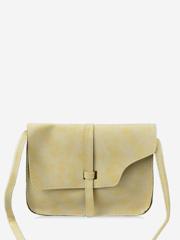Shop Simple Strap Accent PU Crossbody Bag