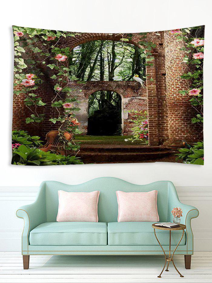 Hot Forest Brick House Print Tapestry Wall Hanging Art Decoration