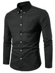 Casual Solid Color Design Long Sleeves Shirt -