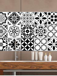 Vintage Geometric Pattern Tile Wall Sticker Set -