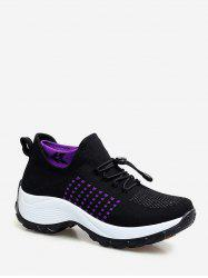 Mesh Breathable Avoid Lace Up Sneakers -