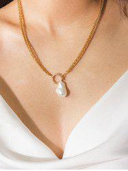 Artificial Pearl Decoration Alloy Necklace -