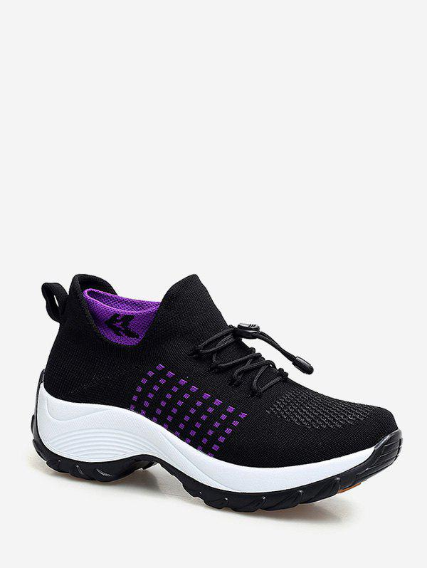 Discount Mesh Breathable Avoid Lace Up Sneakers