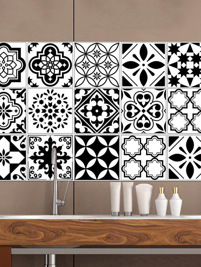 Cheap Vintage Geometric Pattern Tile Wall Sticker Set