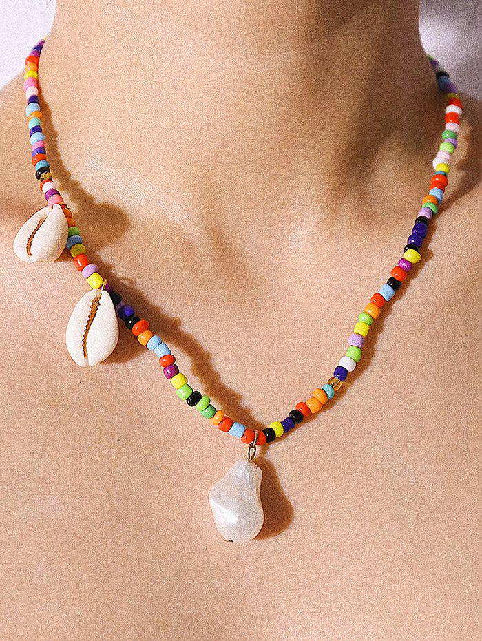 New Seashell Faux Pearl Decoration Beading Necklace
