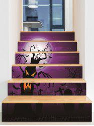 Halloween Bat Cemetery Pattern Removable Stair Stickers -