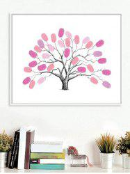 Finger Graffiti Fingerprint Sign In Tree Print DIY Removable Wall Art Stickers -