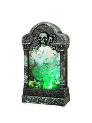 Halloween Decoration Tombstone Pattern LED Night Light -