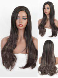 Synthetic Side Part Long Straight Wig -