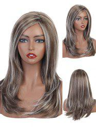 Side Part Natural Mixed Layer Long Curly Synthetic Wig -