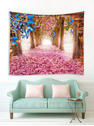 Butterfly and Flower Forest Print Tapestry Wall Hanging Art Decoration -