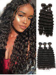 3Pcs Brazilian Natural Deep Wave Virgin Human Hair Extensions -