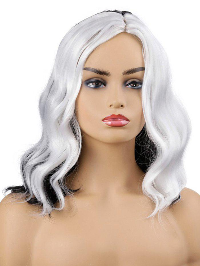 Outfits Medium Side Parting Color Block Wavy Cosplay Synthetic Wig