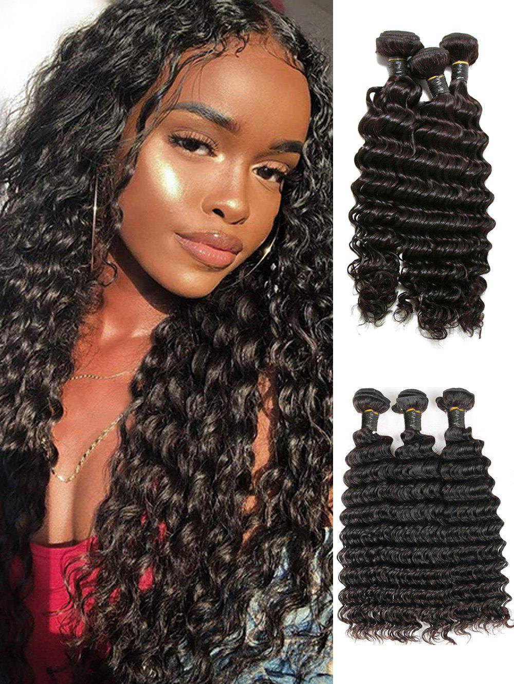 Cheap 3Pcs Brazilian Natural Deep Wave Virgin Human Hair Extensions