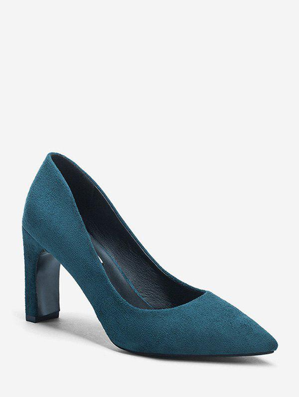 Store Plain Suede High Heel Basic Pumps