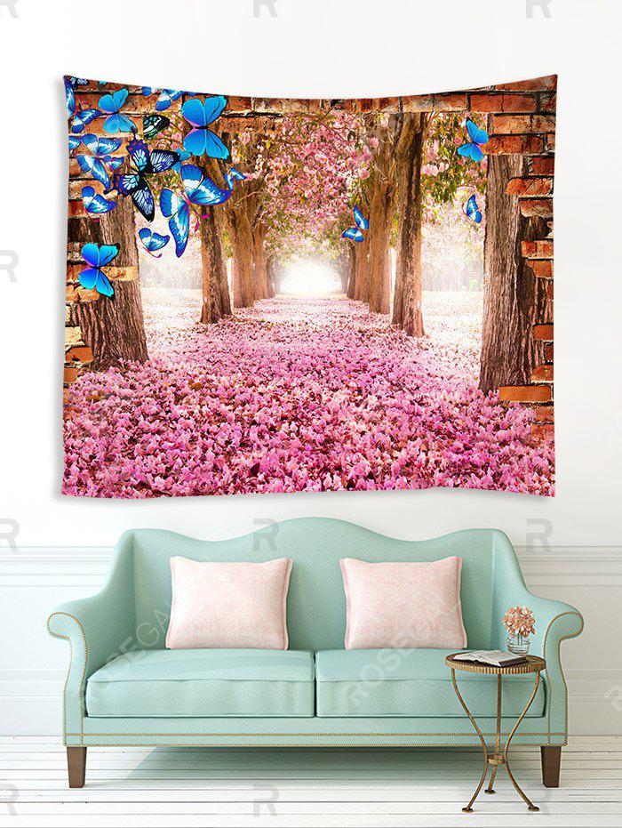 Buy Butterfly and Flower Forest Print Tapestry Wall Hanging Art Decoration