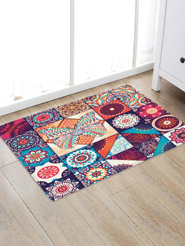Buy Bohemian Jointed Pattern Non-Slip Quick Dry Floor Pad Rug