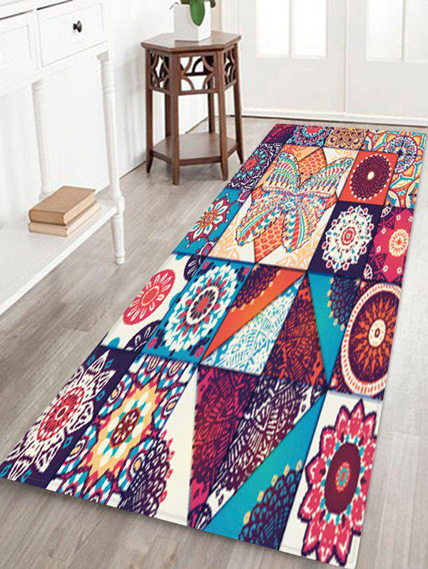 New Bohemian Jointed Pattern Non-Slip Quick Dry Floor Pad Rug