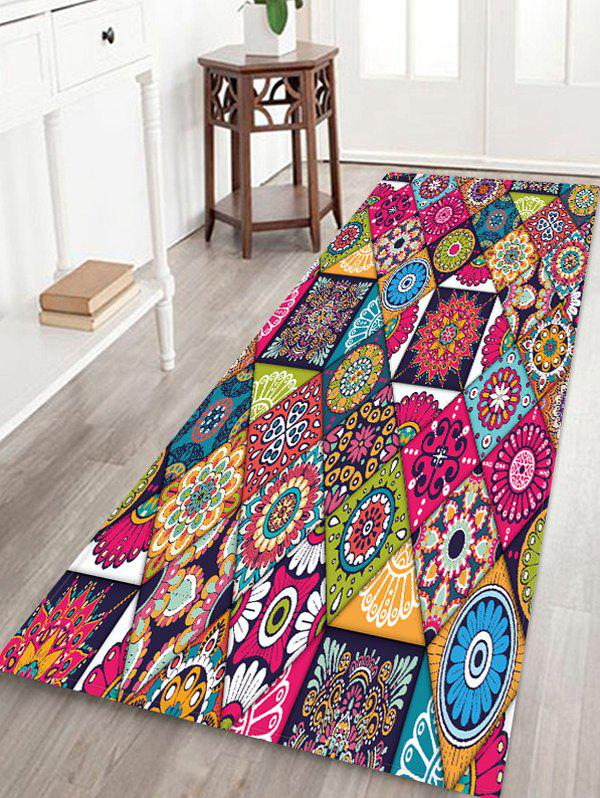 Affordable Non-Slip Quick Dry Patchwork Pattern Floor Pad Rug
