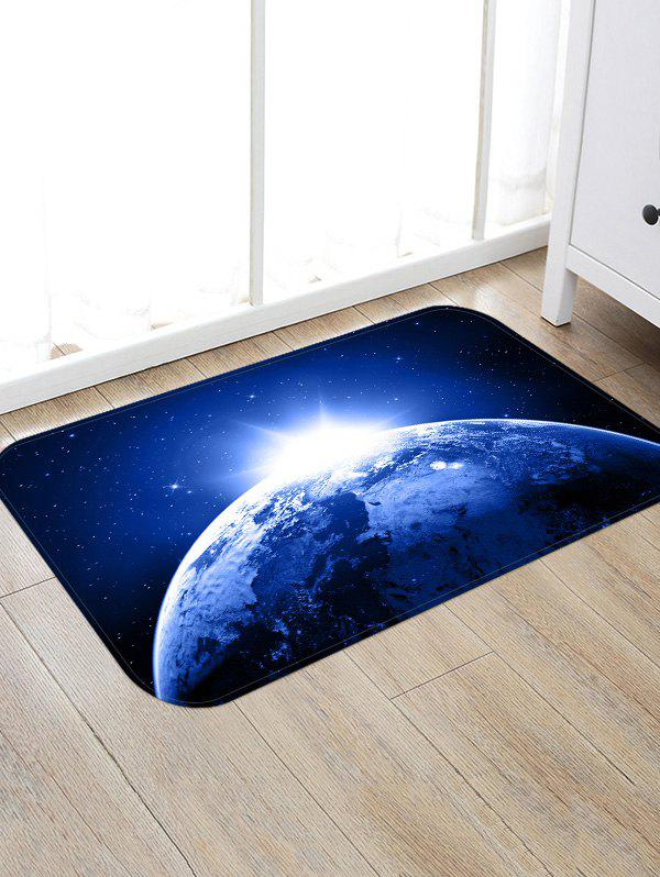 Trendy Non-Slip Quick Dry Space Print Floor Pad Rug