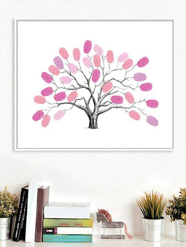 Store Finger Graffiti Fingerprint Sign In Tree Print DIY Removable Wall Art Stickers