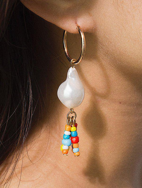 Outfits Baroque Pearl Colorful Beaded Pendant Earrings