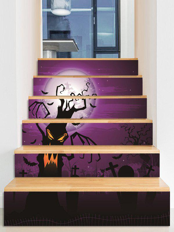 Outfit Halloween Bat Cemetery Pattern Removable Stair Stickers