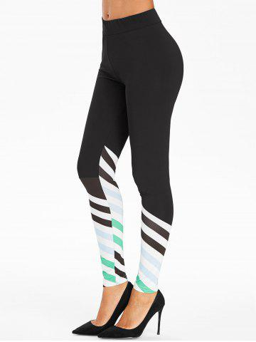 Stripes High Rise Active Leggings