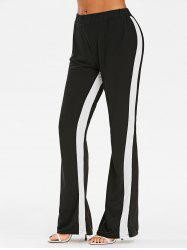 Two Tone High Rise Boot Cut Pants -