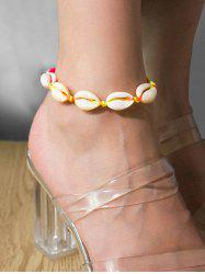 Beach Shell Adjustable Rope Anklet -