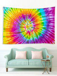 Spiral Tie Dye Print Tapestry Wall Hanging Art Decoration -