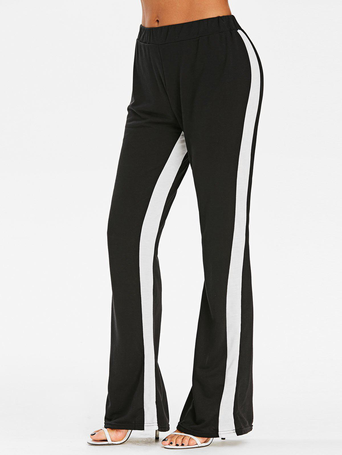 Best Two Tone High Rise Boot Cut Pants