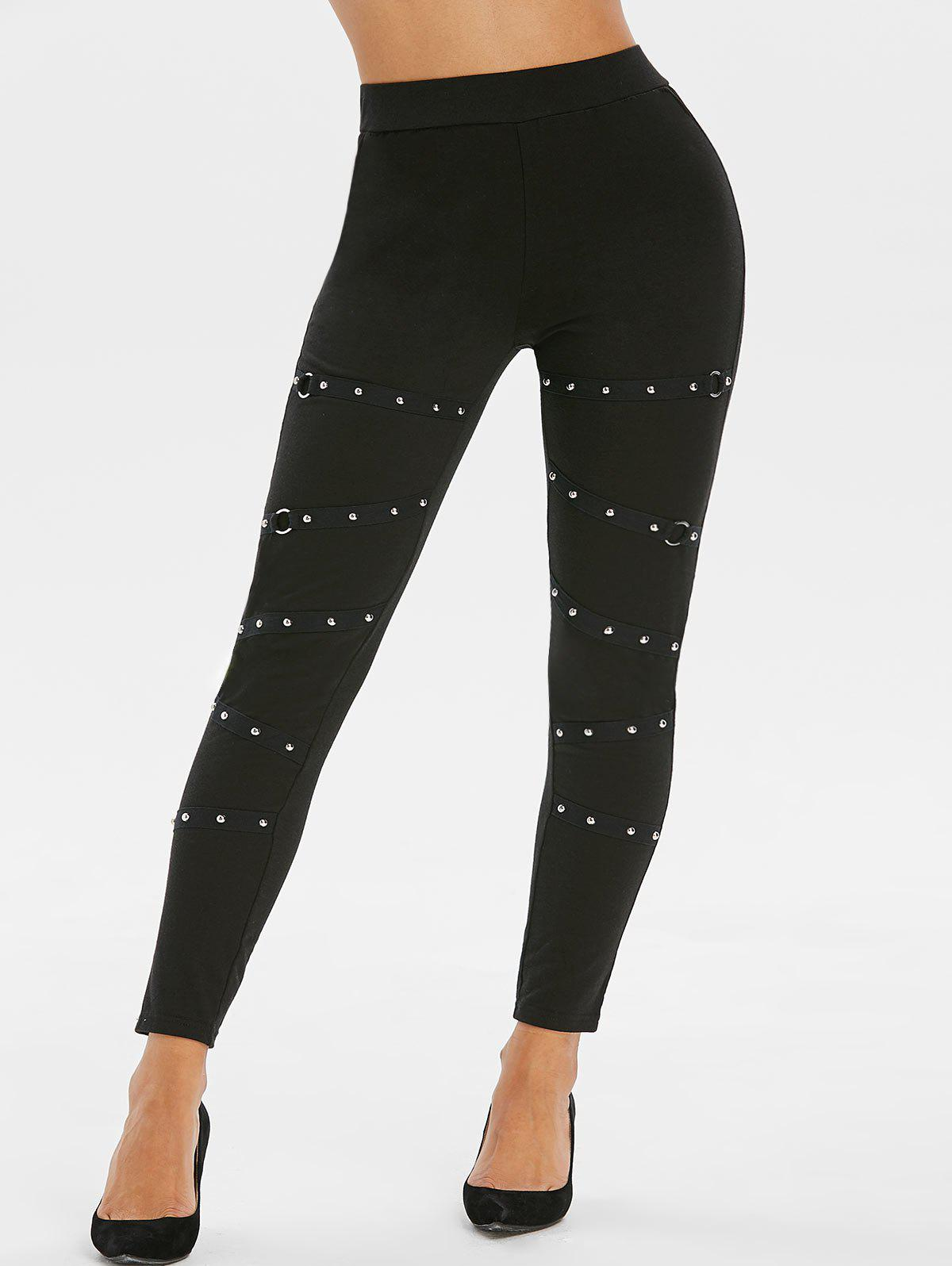 Best Studded O Ring High Waisted Pants