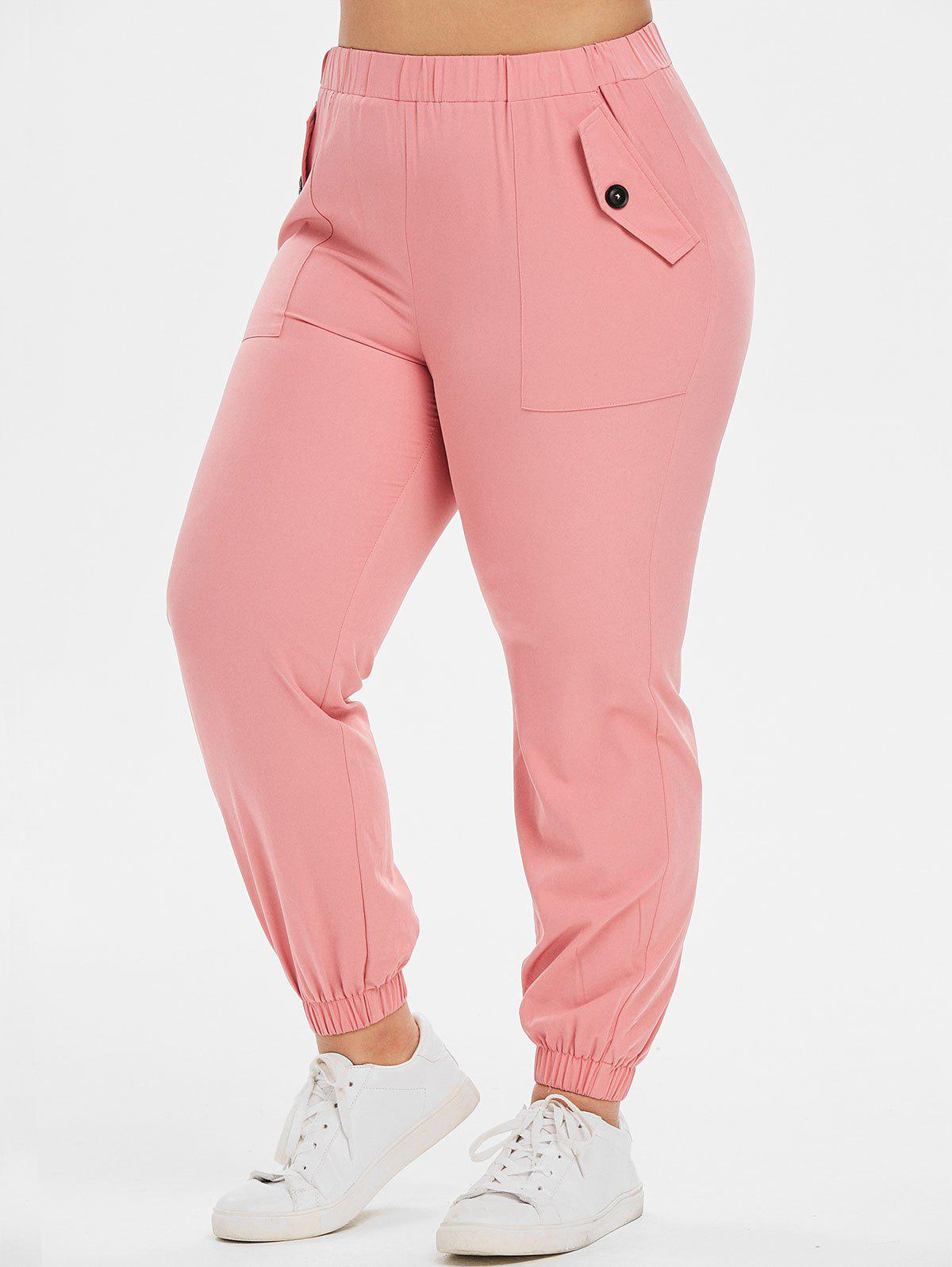 Fashion Plus Size High Waist Jogger Pants