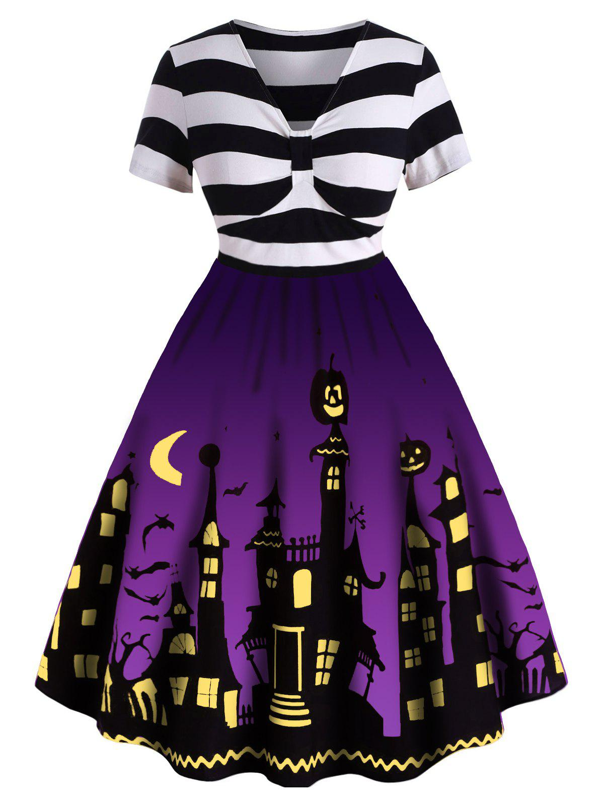 Hot Plus Size Halloween Vintage Pin Up Dress