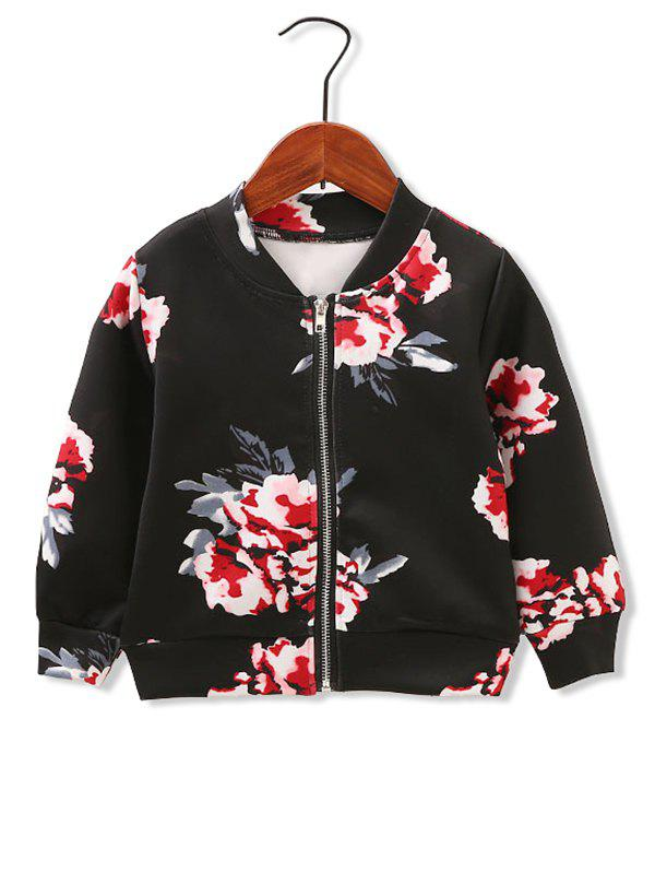 Shops Girls Floral Print Zip Up Jacket