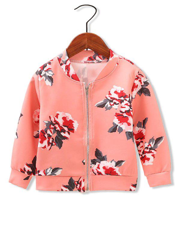 Shop Girls Floral Print Zip Up Jacket