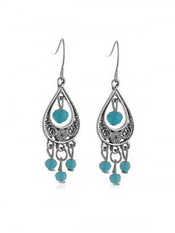 Bohemian Teardrop Beads Hook Earrings