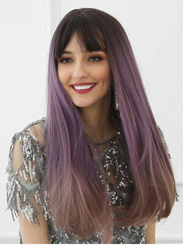 Neat Bang Long Ombre Long Synthetic Wig